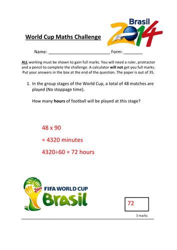 World Cup 2014 Math Challenge