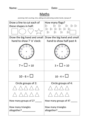 Nouns and Verbs Worksheet KS1 by mignonmiller   UK ...
