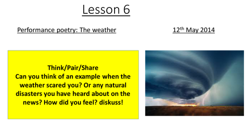 Performance Poetry year 7