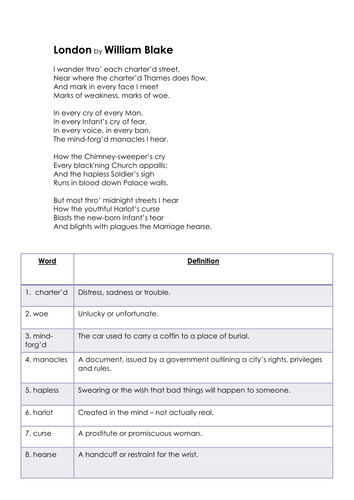 Year 8 Poetry (Nature and Place) SoW - Lesson 4