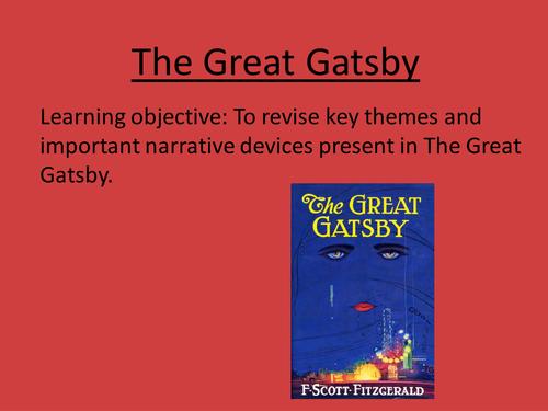 great gatsby in a nutshell