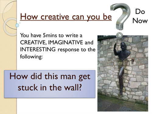 Year 7: Descriptive Writing SoW - Lesson 11