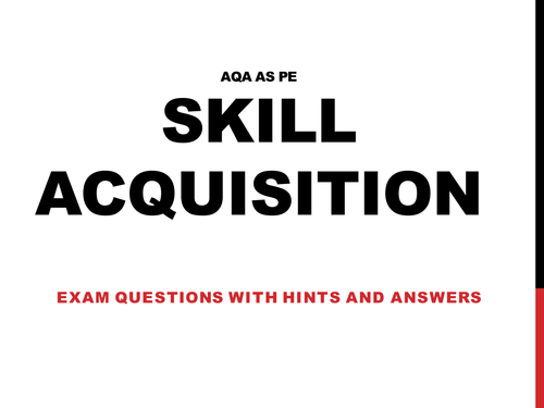 Classification of Skill- Skill Acquisition by jules42