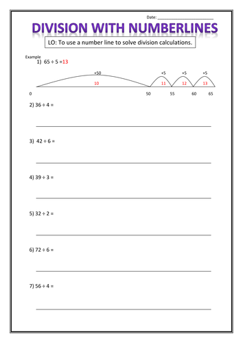 Number Line Worksheets : blank number line worksheets tes Blank ...
