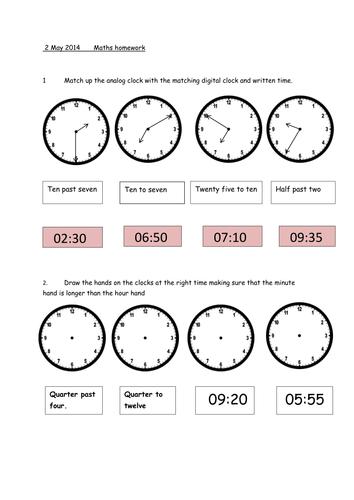 Time Worksheets : time worksheets ks2 nearest 5 minutes Time ...