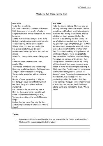 39 Macbeth 39 Act 3 Scene 1 Worksheets By Ag 467 Teaching