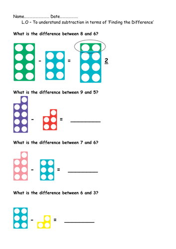 year 1 finding the difference between numbers by beckyjanehutchings teaching resources. Black Bedroom Furniture Sets. Home Design Ideas