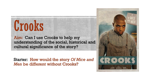 Of Mice And Men: Characterisation Of Crooks By TandLGuru