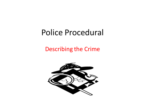 police - analyzing a crime novel by suegal17 | Teaching