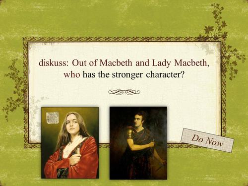 Year 9 Macbeth Scheme of Work - Lesson 11