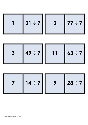 Division dominoes by eric t viking teaching resources tes for 1 to 12 times table games
