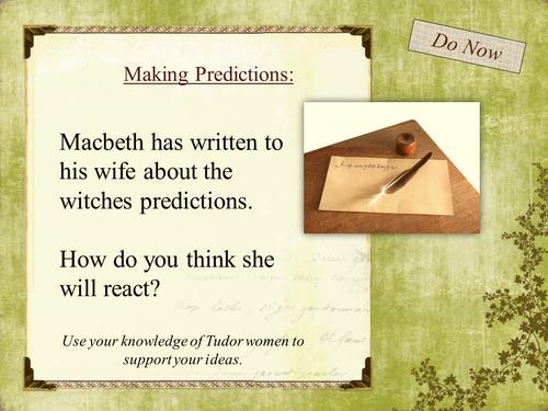 Year 9 Macbeth Scheme of Work - Lesson 7