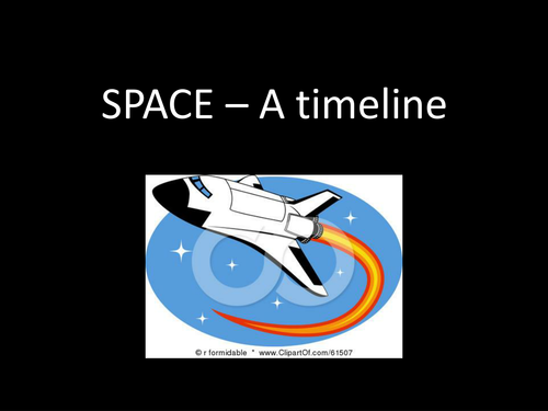 Space - A timeline