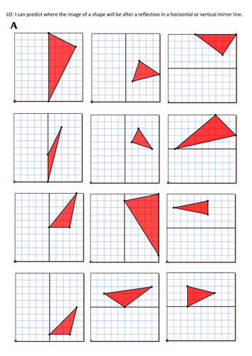 Line Art Ks2 : Reflection mirror lines by rjsenior teaching resources