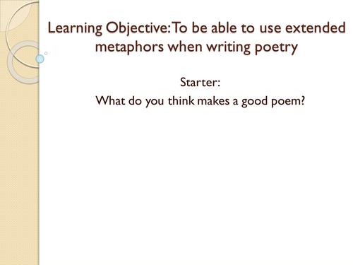 Good extended metaphors essays