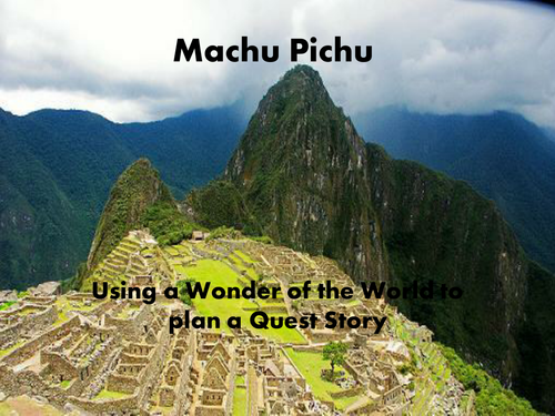 Using Machu Pichu as a Story Mountain