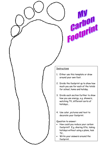 Worksheets Carbon Footprint Worksheet carbon footprint by mrswolsey teaching resources tes