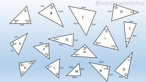 Congruent triangles Matching activity by supergenau - Teaching ...