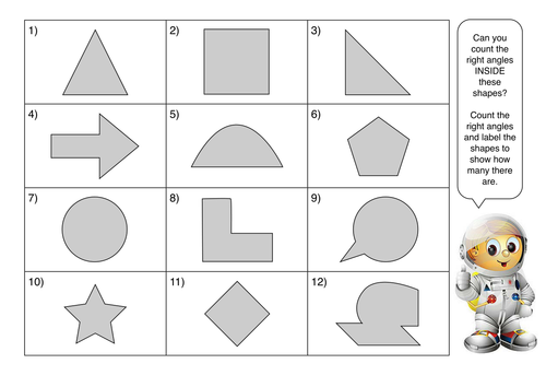 Recognize Right Angles In Shapes Diff Orientations By Craigprestidge