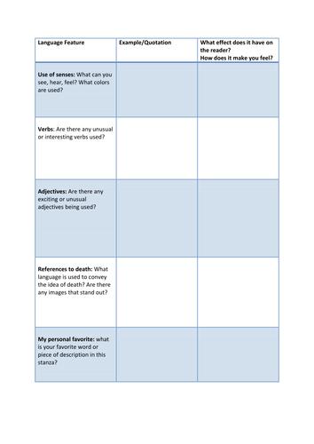 Year 10 Wilfred Owen CA Scheme of Work - Lesson 8