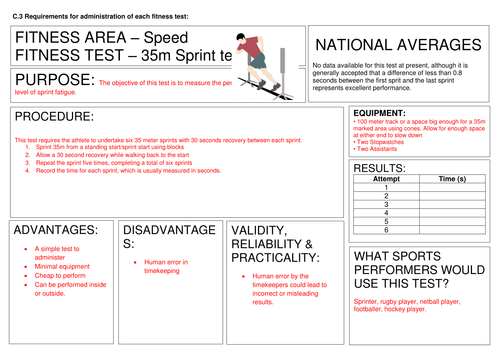 Fitness Testing Task cards