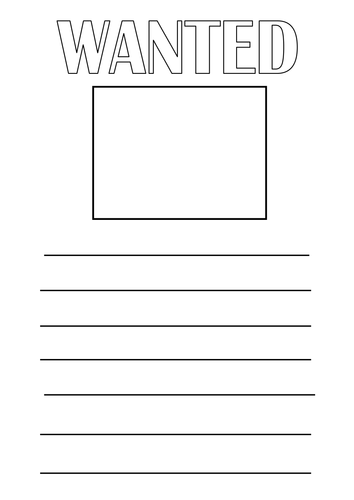 Differentiated 'Wanted' Poster Worksheets by ...