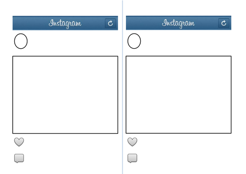 Instagram template by eilidhpie teaching resources tes for Free instagram template