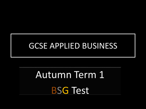 End of Unit Test - GCSE Applied Business