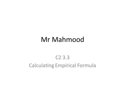 Empirical Formula by kashif786 - Teaching Resources - Tes
