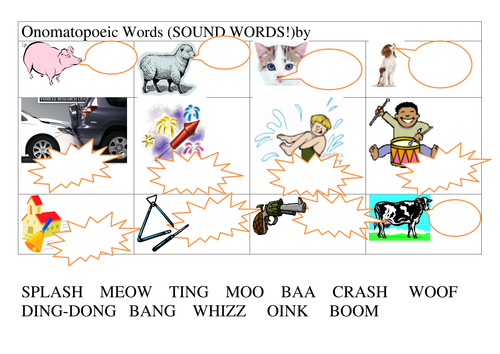 Onomatopoeia by annhatton Teaching Resources Tes – Onomatopoeia Worksheets
