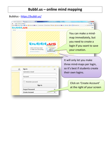 Bubbl.us online mind-mapping tutorial
