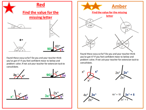 Calculate Missing Angles Ks3 Gcse By Onitmaths