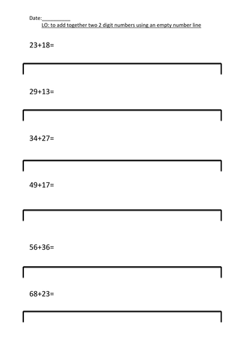 Number Line Worksheets : number line worksheets blank ~ Free ...