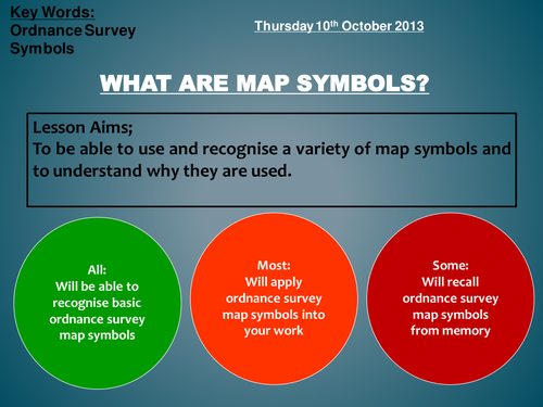 Map Symbols By Helensweeting Teaching Resources Tes