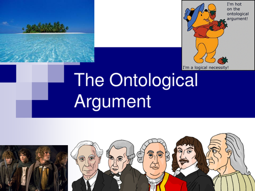 the ontological files The ontological argument comes in various forms, but the common element is that it asserts that god's descartes' ontological argument in the fifth meditation, descartes is considering various.
