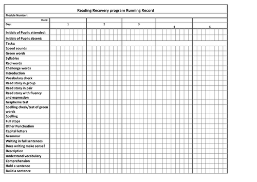 RML Record keeping