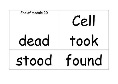 RML Phonics Green words Modules 21-33