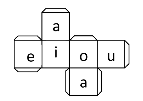 Phonics vowel sounds net to make die