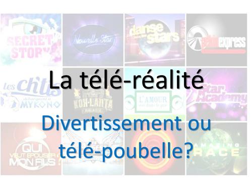 La télé-réalité - divertissement ou poubelle?