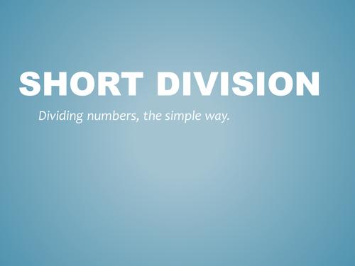 Short Division PowerPoint Pupil Explanation