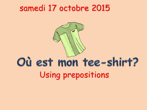 Prepositions and furniture KS3 French