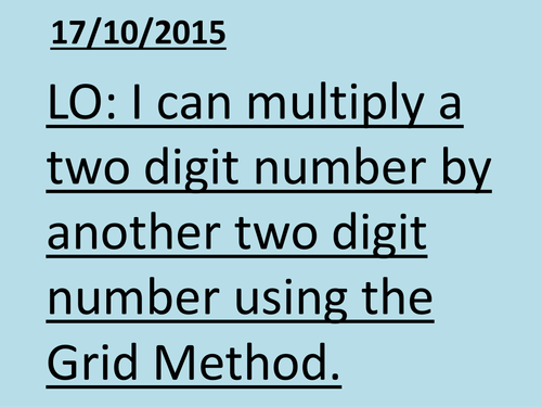 Grid Method for Multiplication by RJSENIOR - Teaching Resources - Tes