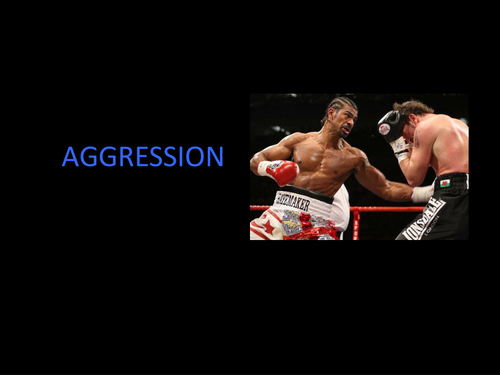 Unit 4: Sport and Ex Psychology (aggression)