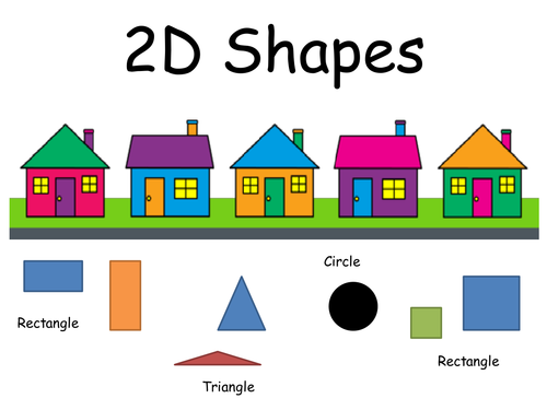 2D shapes houses presentation by smandie123 - Teaching Resources - Tes