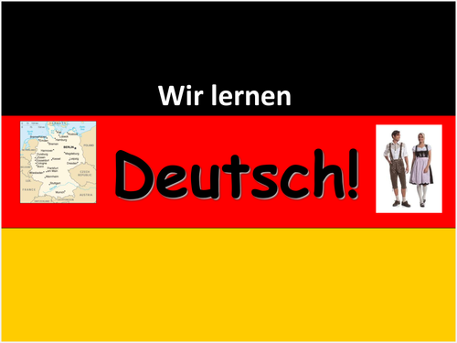 Beginners' German Powerpoints - multi-topic