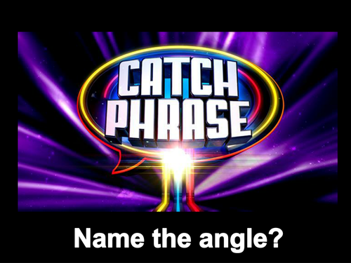 Acute Obtuse Reflex and Right Angles Catchphrase