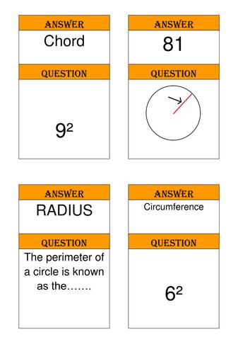 Area of a circle MathematicsTreasure Hunt