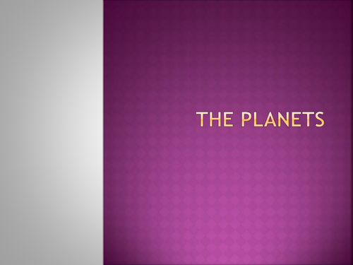 A new Planet Powerpoint by - UK Teaching Resources - TES