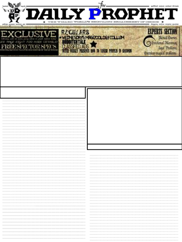 Harry Potter Daily Prophet newspaper template by dordafaye ...