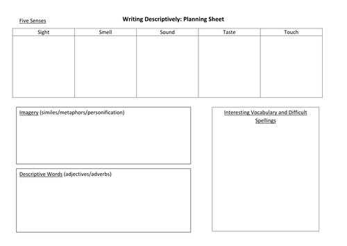 Narrative Writing Planning Sheet By Jamestickle86